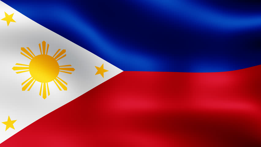 Philippines close up waving flag hd loop stock footage video 927619 shutterstock - Philippine flag images ...