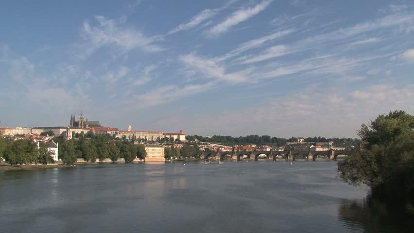 View from the Legion Bridge, Prague   Shutterstock HD Video #2741555