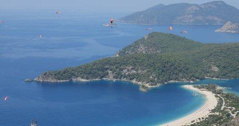 paragliding para gliding oludeniz fethiye turkey babadag blue lagoon scenery