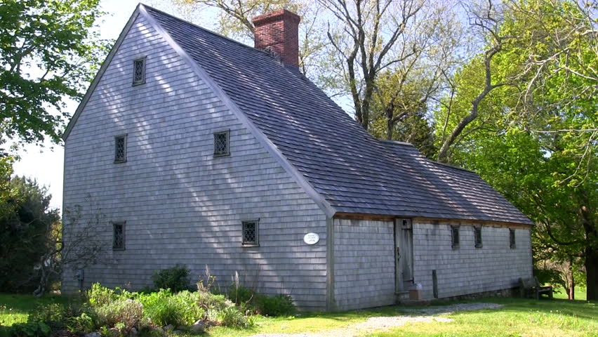 Hoxie House Salt Box Historic Village Sandwich Cape Cod Stock Footage Video 2746715