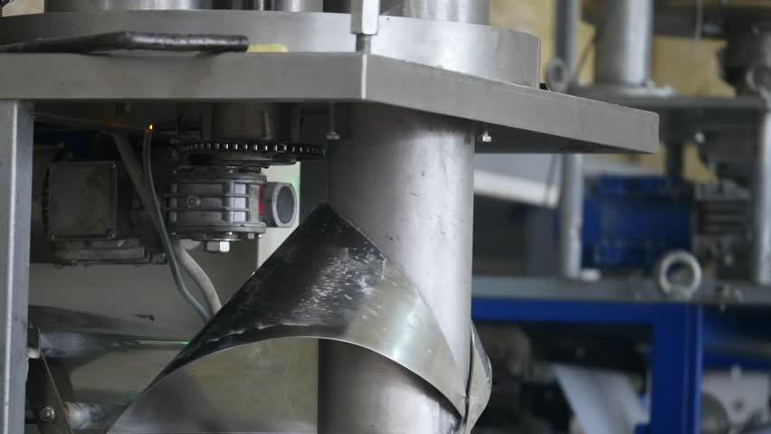 Corn sticks processing factory equipment.   Shutterstock HD Video #27487345