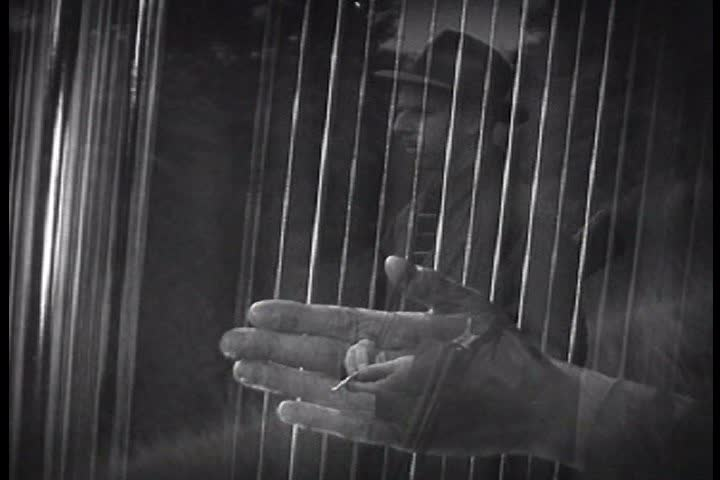 1940s A narrator explains that similar to how human hearing canu0027t detect dog & Trapped Man Knocking On Door Hands Shadow Abstract. Black And ... pezcame.com