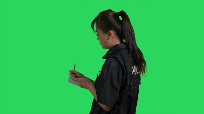 Header of policewoman