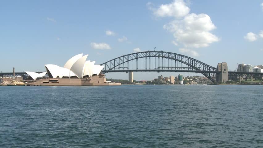 SYDNEY, AUSTRALIA, MAR 22, 2009: Sydney Opera and Harbour Bridge at daytime