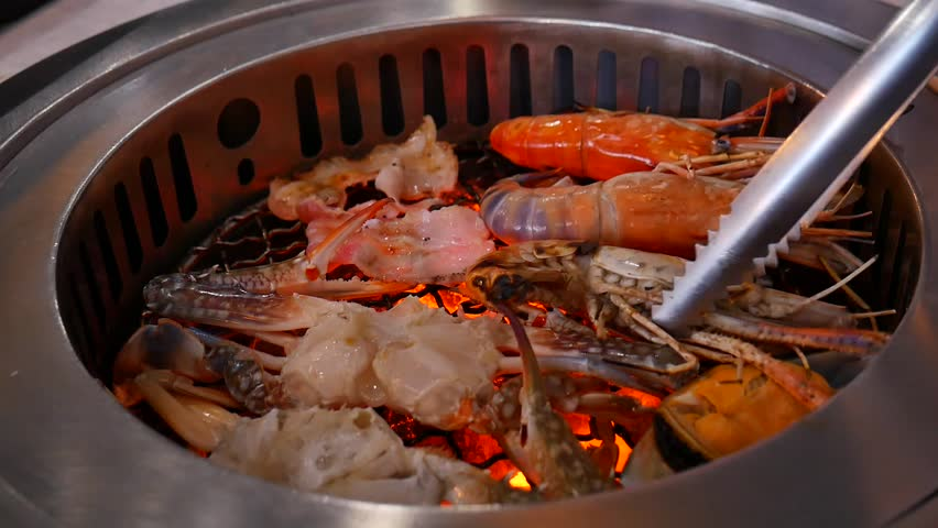 Seafood Grill | Shutterstock HD Video #27594565