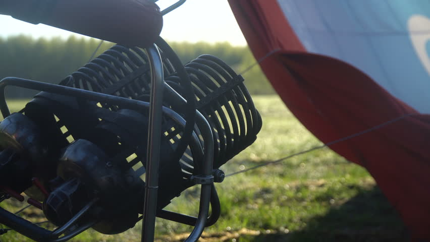 The Burner For Hot Air Balloon   4K Stock Video Clip