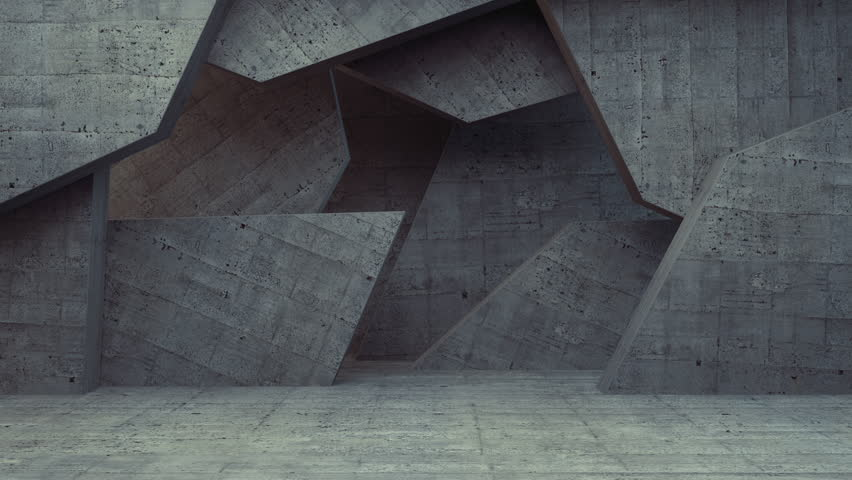 Abstract Concrete Wall Background Random Motion, 3d Loopable Animation 4k