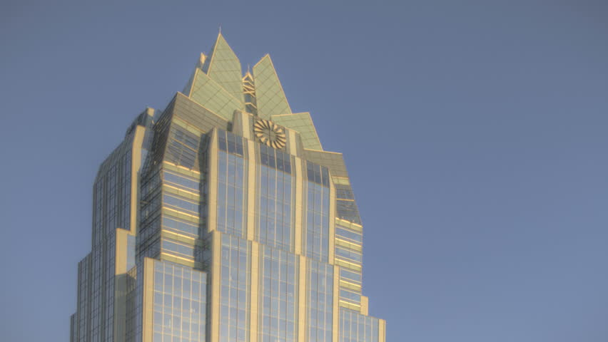 AUSTIN, TEXAS, USA, SEP 07, 2011: Sunset Time lapse of the skyline from Austin through twilight to night