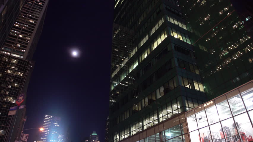 Apartment Building At Night california - circa 2014 - low angle view of a high rise apartment