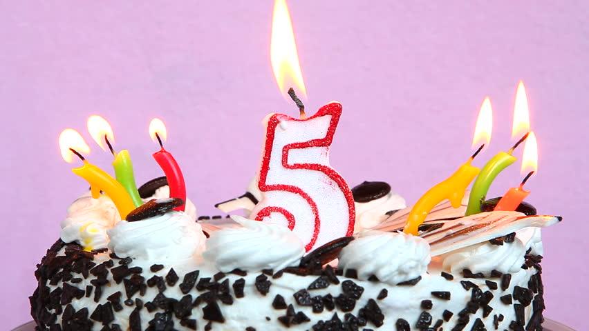 Happy 5 Birthday With Cake Stockvideos Filmmaterial 100 Lizenzfrei 28001395