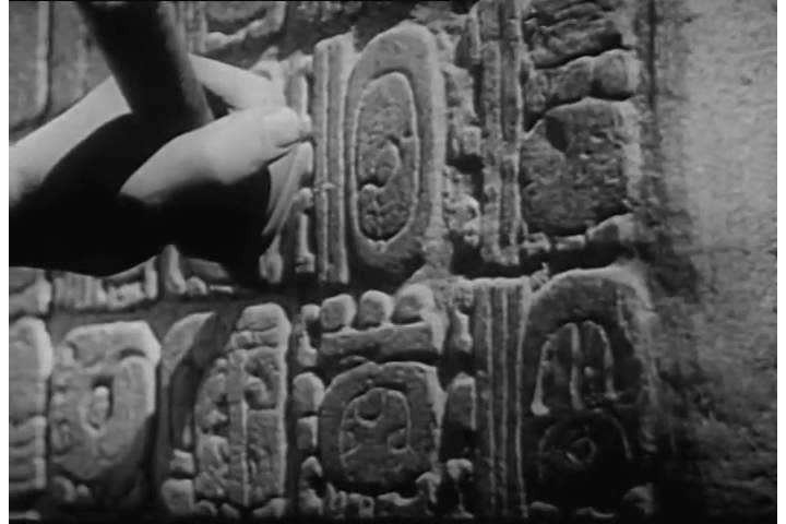 Shots of carvings and hieroglyphics on an egyptian pyramid in the