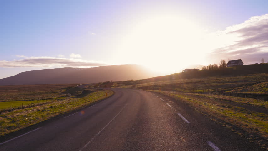 Road in beautifull icelandic landscape | Shutterstock HD Video #28070245