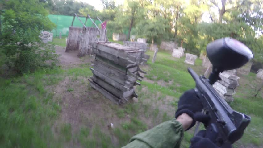 Paintball. First Person View. | Shutterstock HD Video #28106920