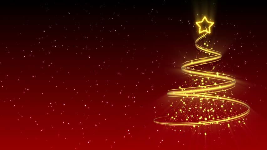 Christmas Tree Background - Merry Christmas 20 (HD)   Shutterstock HD Video #2811955