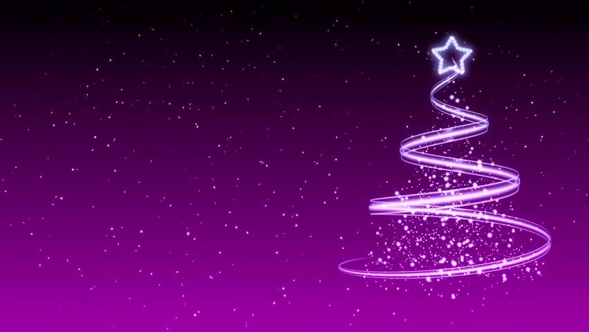 Christmas tree background merry stock footage video 100 - Purple christmas desktop wallpaper ...