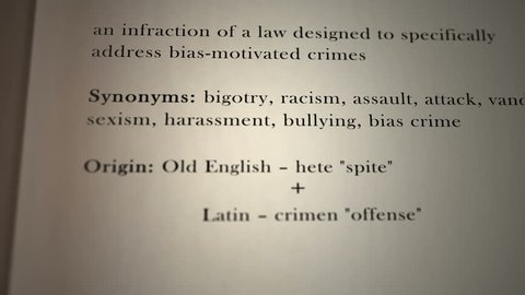 Hate Crime Definition