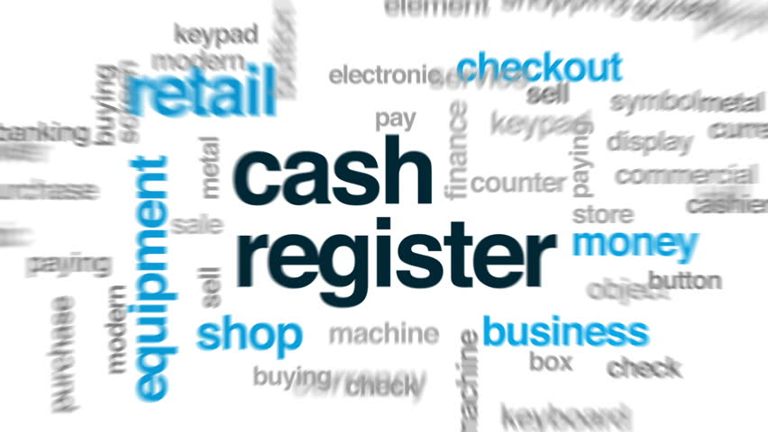 Cash register animated word cloud, text design animation.   Shutterstock HD Video #28175395