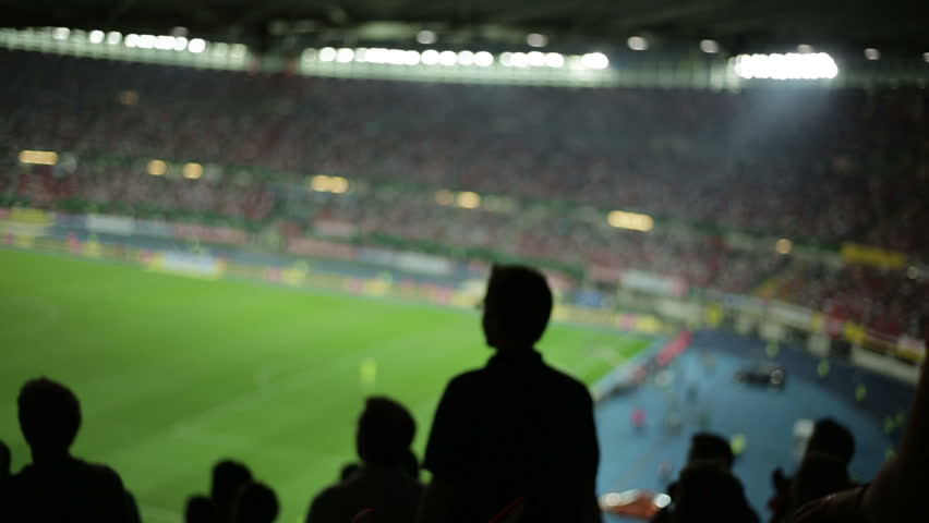 Soccer fans in stadium | Shutterstock HD Video #2822725