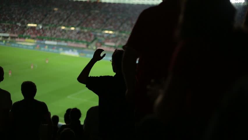 Soccer fans in stadium after a missed goal | Shutterstock Video #2822749