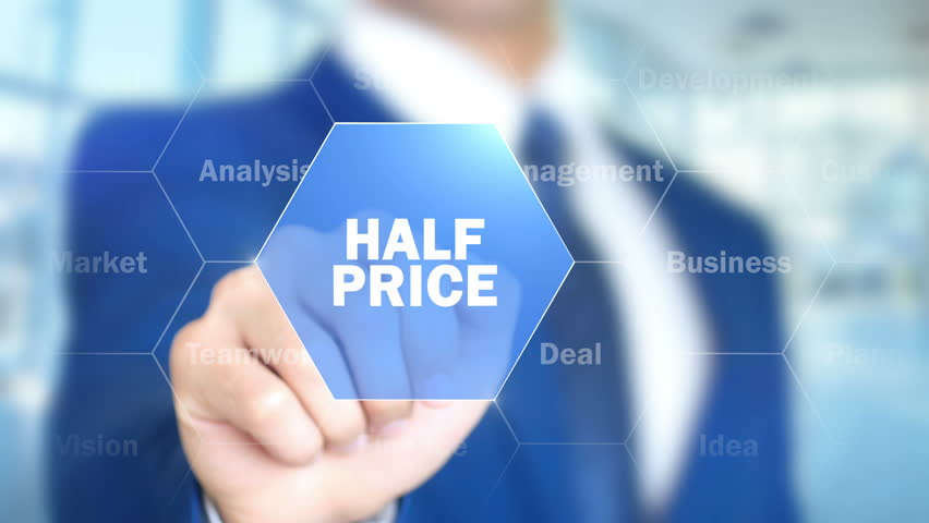 Half Price, Man Working on Holographic Interface, Visual Screen