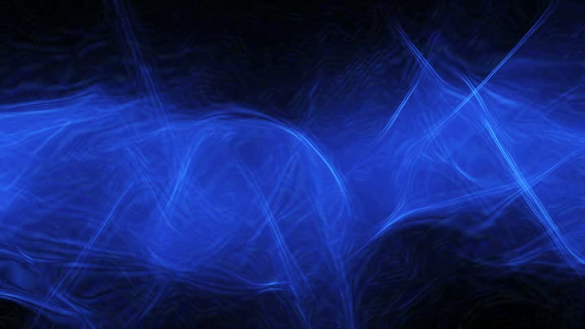 HD - Motion 337: Abstract blue light patterns pulse, ripple and flow (Loop).