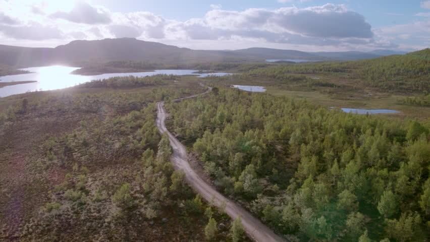 Rural road over marshlands #28252195
