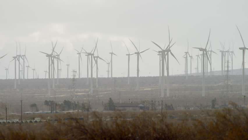 The shooting of functioning windmills in the countryside | Shutterstock HD Video #28271095