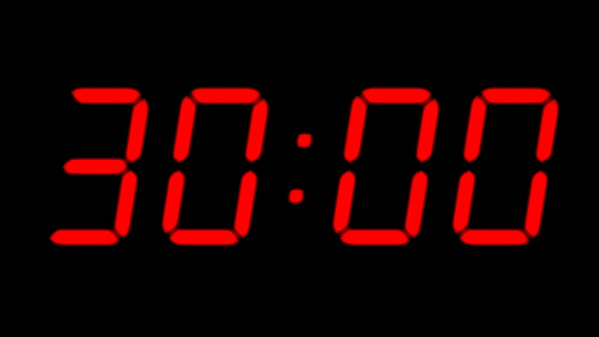 countdown timer stock footage video shutterstock. Black Bedroom Furniture Sets. Home Design Ideas