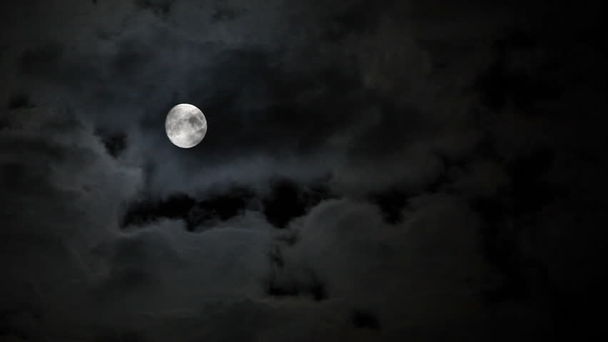 Full moon behind clouds at night | Shutterstock Video #2831005