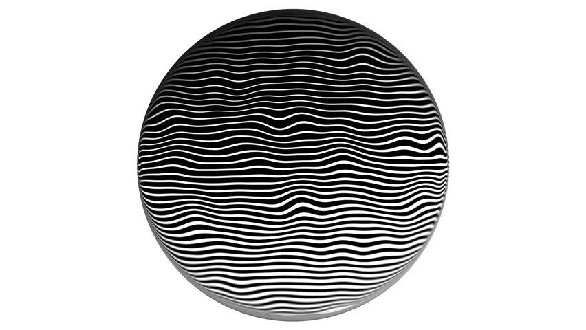 Zebra Line halftone pattern Texture Movement Animation Background. 4k. On a white background, in a circle.