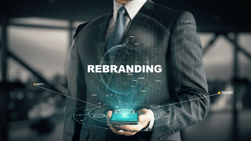 Businessman with Rebranding hologram concept | Shutterstock HD Video #28336045