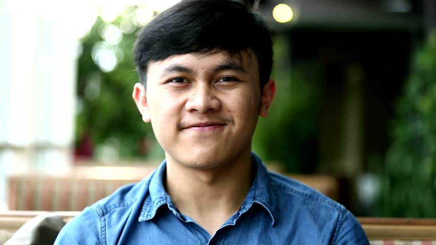 Portrait of south east asian handsome man smiling