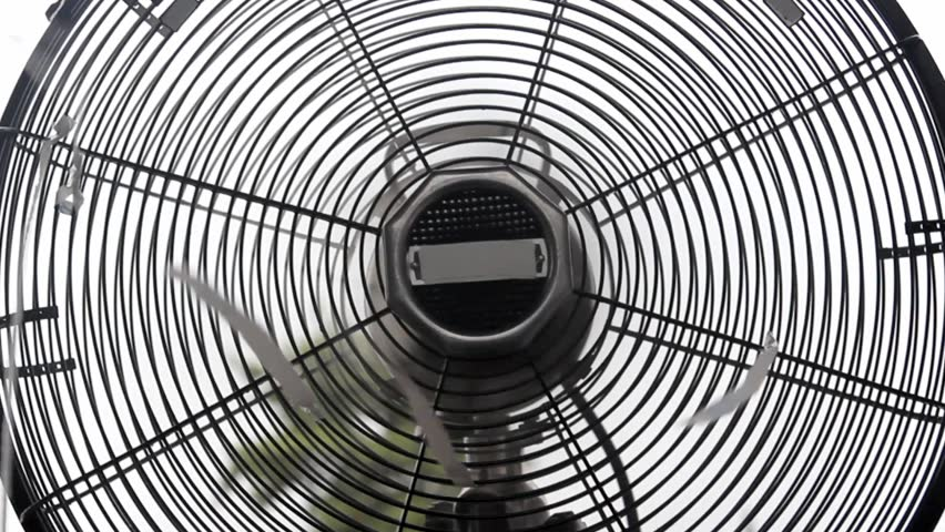 Old Classic Table Fan Close Up, Front View Stock Footage Video 2836495 |  Shutterstock