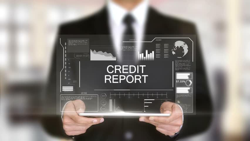 Credit Report, Hologram Futuristic Interface, Augmented Virtual Reality