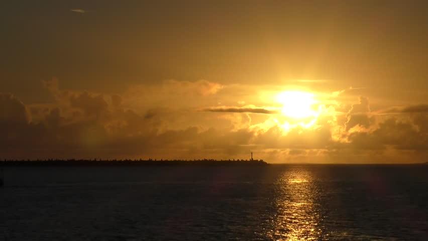 Sunset of Okinawa Naha Port | Shutterstock HD Video #28479355