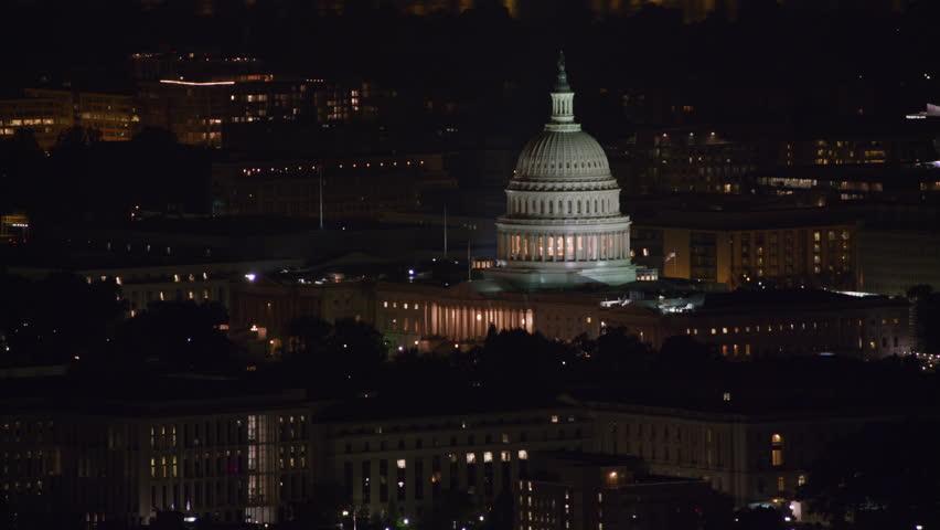 Washington D C Circa 2017 Aerial View Stock Footage Video 100
