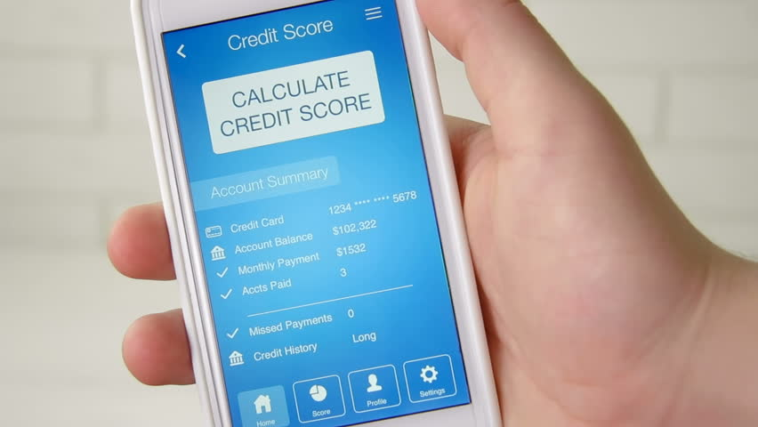 Checking credit score on smartphone using application. The result is NO CREDIT SCORE | Shutterstock HD Video #28508305