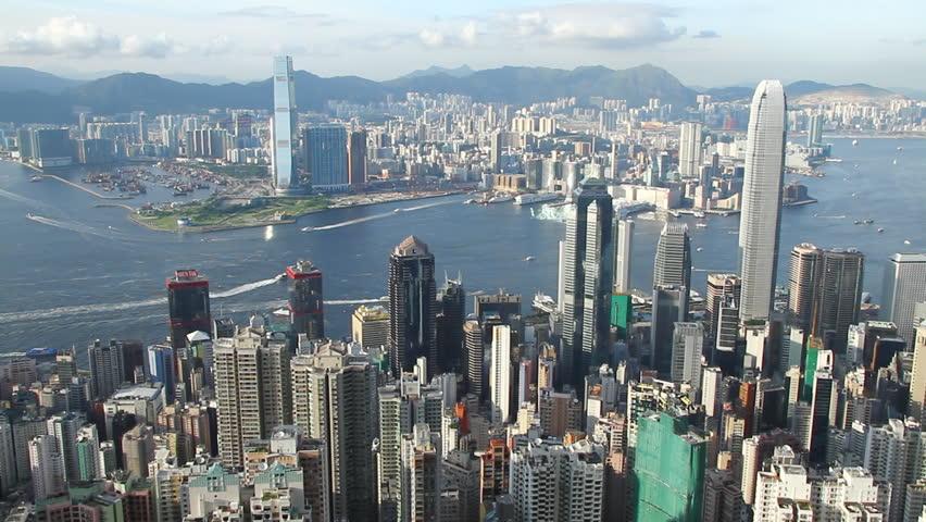Central District Victoria Harbor Hong Kong Island