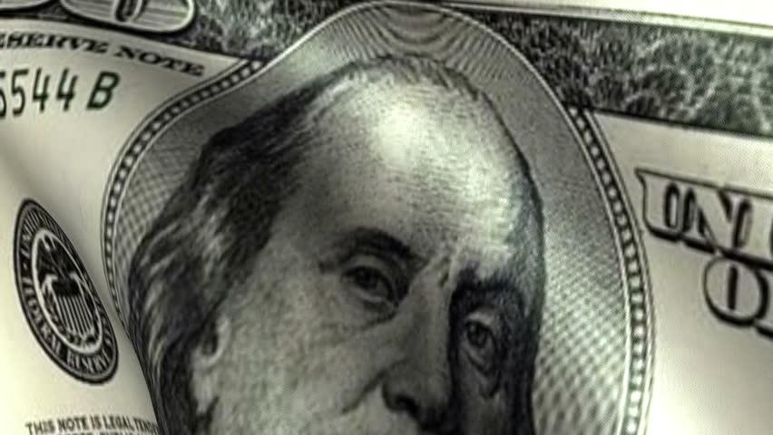 One Hundreed Dollars Flag Waving   Shutterstock HD Video #2855095