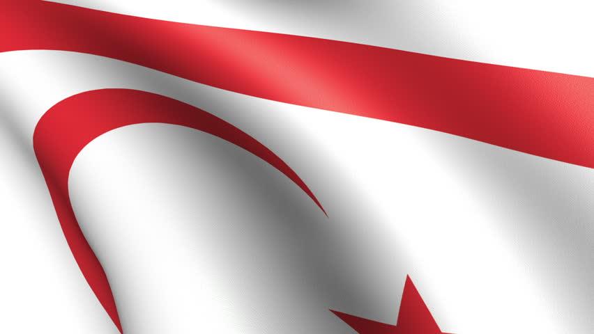 Northern Cyprus Flag Waving | Shutterstock HD Video #2855155