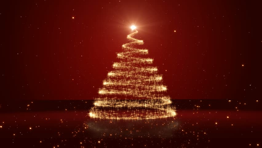 Christmas Tree On Red Background Stock Footage Video 2857075 | Shutterstock