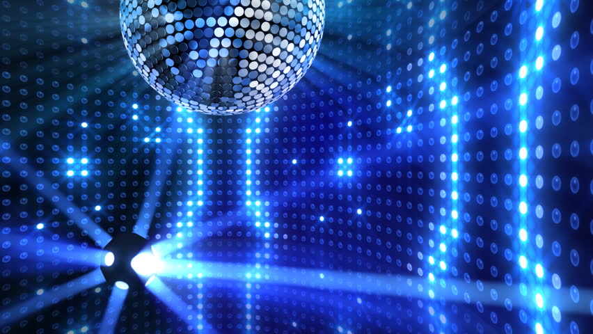 Disco Mirror Ball Lights Stock Footage Video 2865862