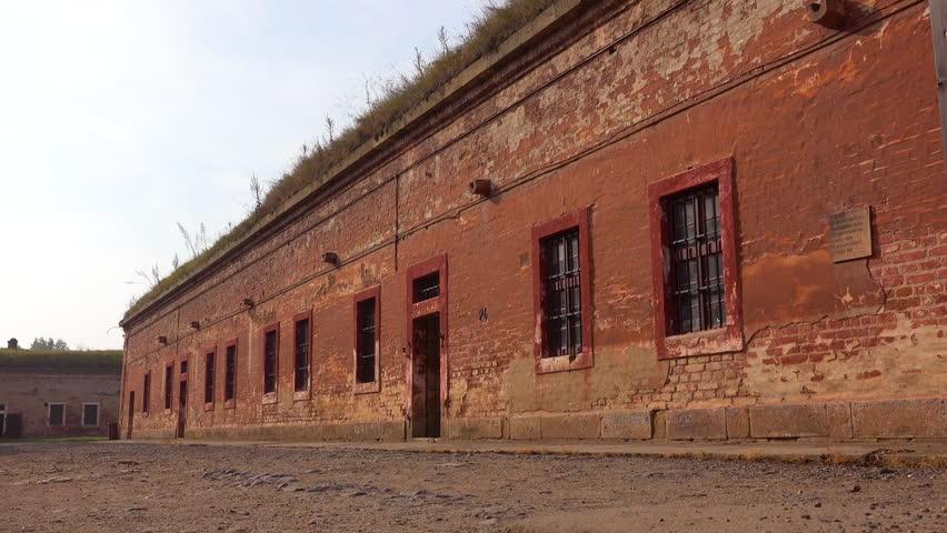 Terezin, Czech Republic-2010s: Interrogation rooms at the Terezin Nazi concentration camp in Czech Republic.