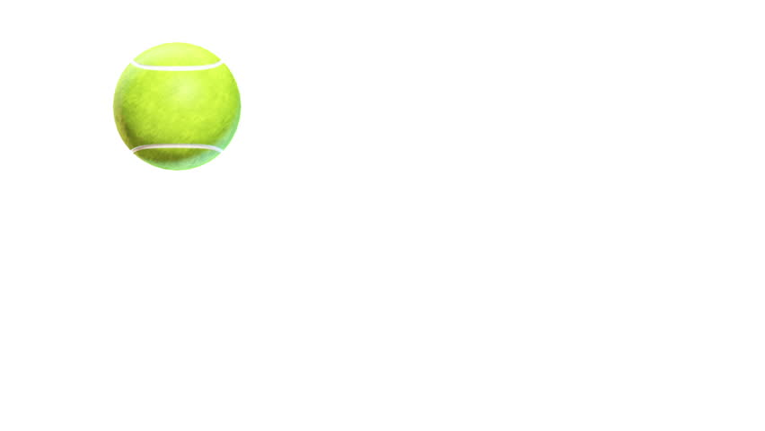 Tennis Ball Bouncing On White Stock Footage Video 100 Royalty