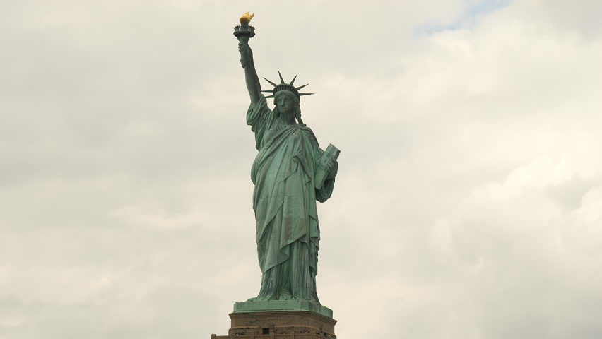 Close Statue of Liberty in New York, shot from boat. | Shutterstock HD Video #28732945