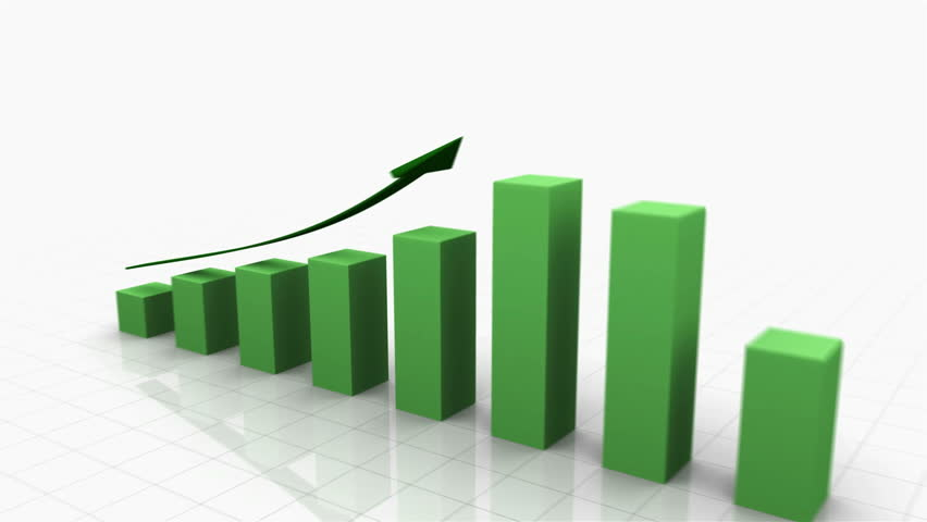 3D Growing Business Chart in Green with Climbing Arrow. Different variations of this file as well as many other business related animations available in my Contributor Gallery.