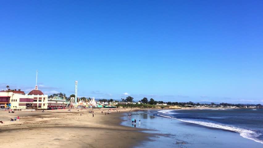 Santa Cruz Beach Boardwalk On The Northern Monterey Bay In County California