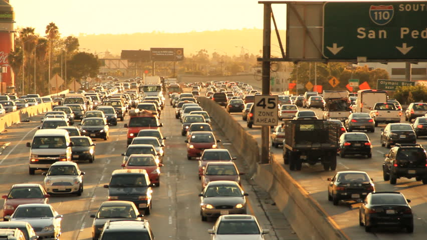 Insane Rush Hour Traffic Jam in California