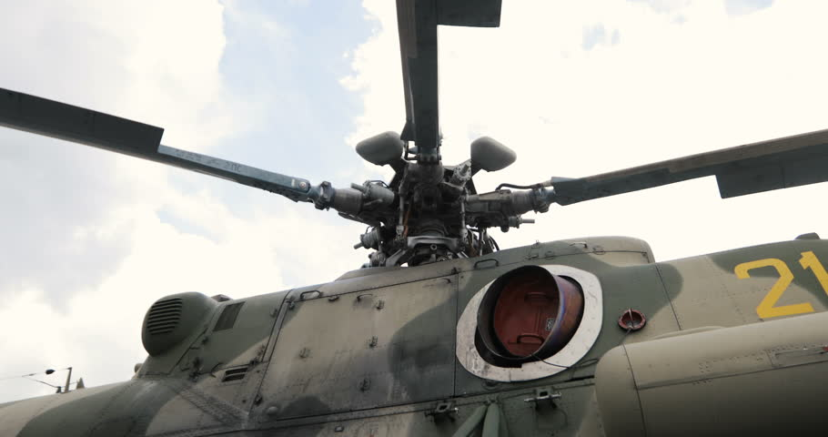 Close Up Of A Helicopters Rotor Blades Helicopter Parts Russian Military