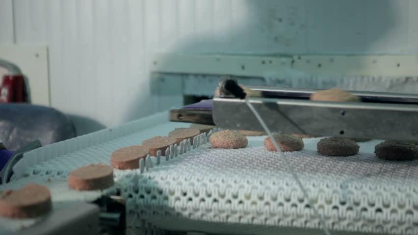 Meat production conveyor